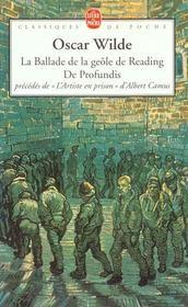La ballade de la geole de reading, de profundis - Intérieur - Format classique