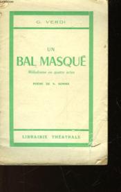 Un Bal Masque - Un Ballo In Maschera - Couverture - Format classique