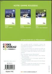 Code Rousseau ; code eaux intérieures (édition 2018) - 4ème de couverture - Format classique