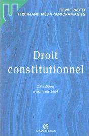 Droit constitutionnel - Intérieur - Format classique