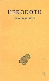 Histoires ; index analytique des neuf livres - Couverture - Format classique