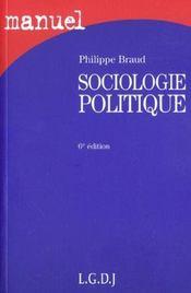 Sociologie politique - Intérieur - Format classique