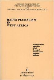 Radio Pluralism In West Africa - Couverture - Format classique