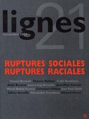 Ruptures sociales ruptures raciales - Intérieur - Format classique