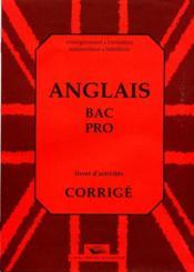 30anglais bac pro livret d'exercices corriges - Couverture - Format classique