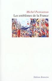 Les emblèmes de la France - Intérieur - Format classique
