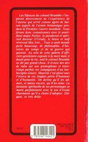 Les Silences Du Colonel Bramble - 4ème de couverture - Format classique