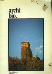 Archi Bio. - Couverture - Format classique