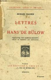 Lettres A Hans De Bülow - Couverture - Format classique