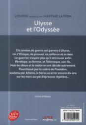 Ulysse et l'odyssée - 4ème de couverture - Format classique