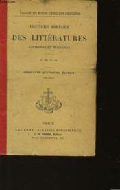 Histoire Abregee Des Litteratures Ancienne Et Moderne - Couverture - Format classique