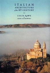 Italian Architecture 16th Cen. /Anglais - Couverture - Format classique