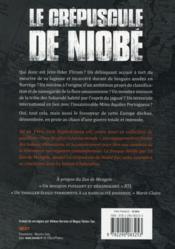 Le zoo de Mengele t.2 ; le crépuscule de Niobe - 4ème de couverture - Format classique