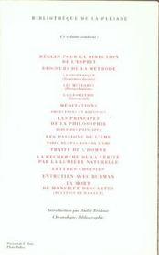 Oeuvres et lettres - 4ème de couverture - Format classique
