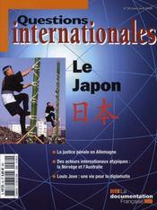REVUE QUESTIONS INTERNATIONALES N.30 ; le Japon (édition 2008) - Intérieur - Format classique