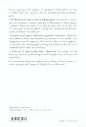 Religion Et Culture En France Allemagne Italie Et Royaume-Uni Au Xixe Siecle Capes/Agregation - 4ème de couverture - Format classique