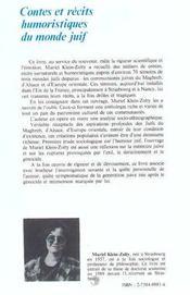 Contes Et Recits Humoristiques Du Monde Juif - 4ème de couverture - Format classique