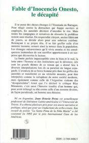 Fable D'Inocencio Onesto, Le Decapite - 4ème de couverture - Format classique