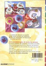 Peinture Sur Porcelaine Des Motifs Pour Tasses Assiettes Et - 4ème de couverture - Format classique