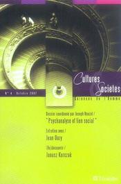 Cultures et sociétés, sciences de l'homme t.4 - Intérieur - Format classique