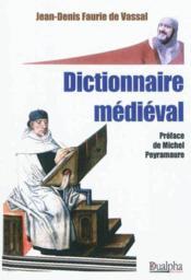 Dictionnaire médiéval - Couverture - Format classique