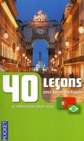 40 leçons pour parler portugais - Couverture - Format classique