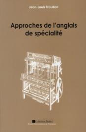 Approches de l'anglais de spécialité - Couverture - Format classique
