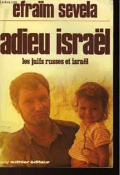 Adieu Israël - Couverture - Format classique