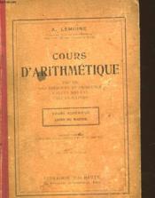 Cours D'Artihmatique - Couverture - Format classique