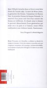 Sharon Tate ne verra pas Altamont - 4ème de couverture - Format classique