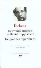 Souvenirs intimes de David Copperfield ; de grandes espérances - Intérieur - Format classique