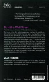 Du rififi à Wall Street - 4ème de couverture - Format classique