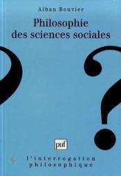 Philosophie des sciences sociales - un point de vue argumentativiste en sciences sociales - Couverture - Format classique