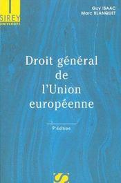 Droit general de l'union europeenne - Intérieur - Format classique