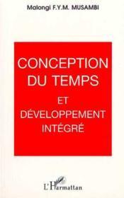 Conception Du Temps Et Developpement Integre - Couverture - Format classique