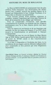 Histoire Du Bois De Boulogne - 4ème de couverture - Format classique