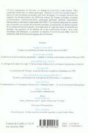 Revue Cultures & Conflits T.38/39 ; Sociologie De L'Europe ; Mobilisations ; Elites Et Configuration Institutionnelles - 4ème de couverture - Format classique