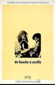 De Bouche A Oreille - Couverture - Format classique