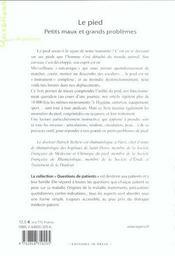 Pied (le) - petit maux et grands problemes - 4ème de couverture - Format classique