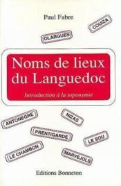 Noms de lieux du languedoc - Couverture - Format classique