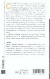 Charles du bos ou la tentation de l'irréprochable - 4ème de couverture - Format classique