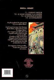 Le khan t.4 ; le conquerant - 4ème de couverture - Format classique