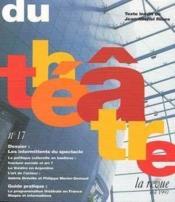 Du theatre-17, ete 1997 - Couverture - Format classique