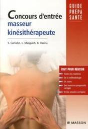 Concours d'entrée masseur-kinésithérapeute - Couverture - Format classique