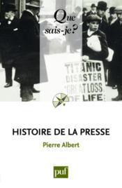 Histoire de la presse (11e édition) - Couverture - Format classique