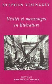 Verites et mensonges en litterature - Intérieur - Format classique