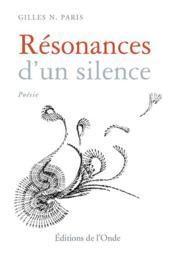Résonances d'un silence - Couverture - Format classique