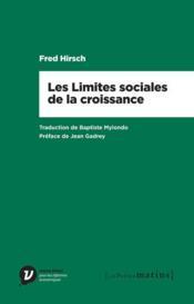Les limites sociales à la croissance - Couverture - Format classique