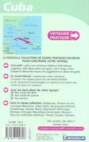 Voyager Pratique ; Cuba - 4ème de couverture - Format classique