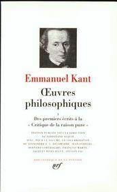 Oeuvres philosophiques t.1 ; des premiers écrits à la critique de la raison pure - Intérieur - Format classique